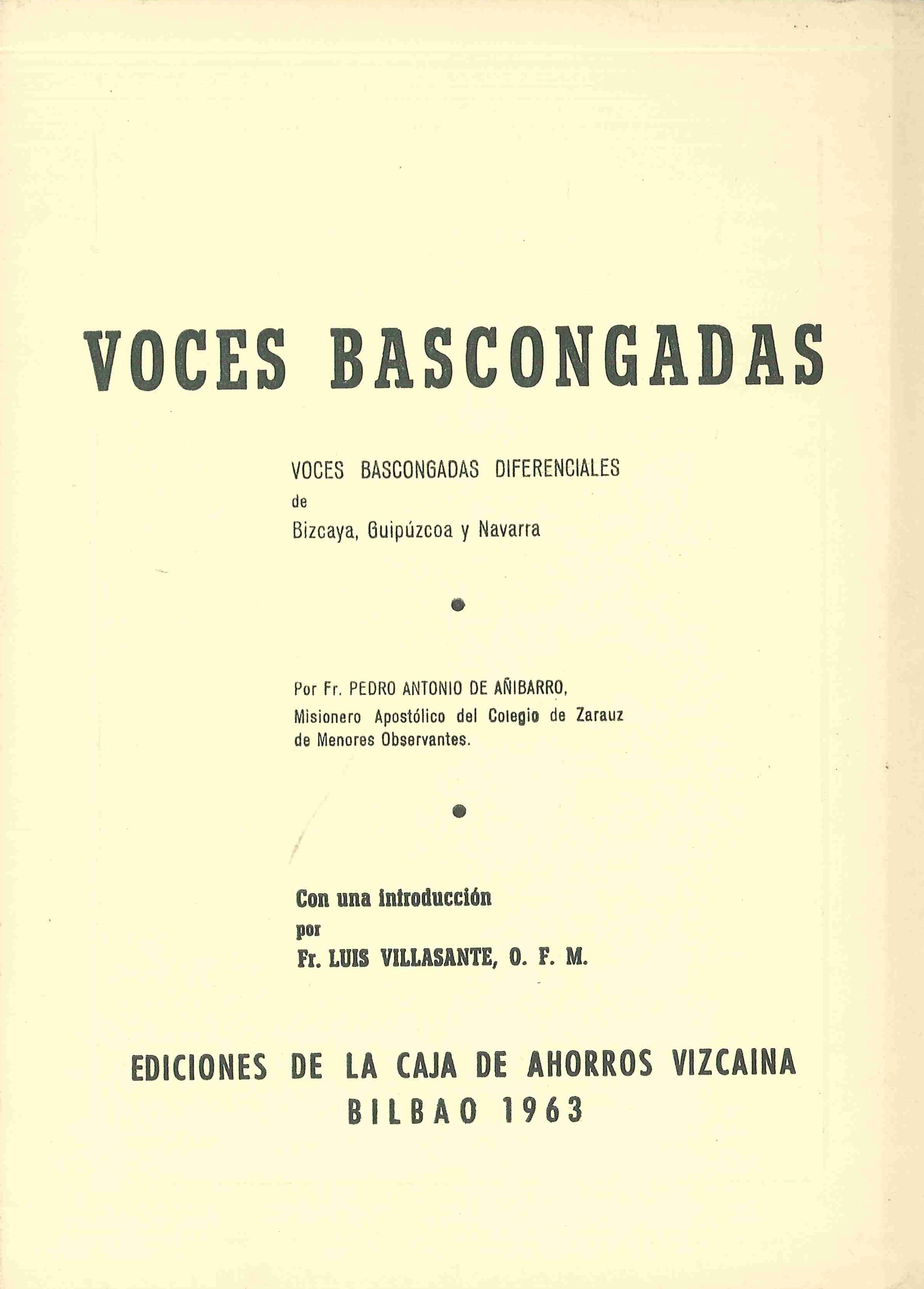 Voces bascongadas